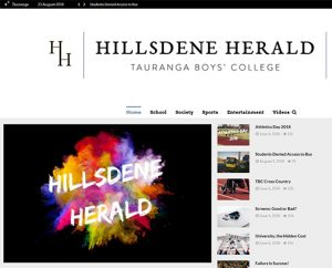Hillsdene Herald Landing Page